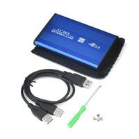 pc sabit diskler toptan satış-Yüksek Hızlı 2.5 inç USB 2.0 HDD Kasa Sabit Disk PC Bilgisayar Laptop Notebook için SATA Harici Muhafaza Kutusu QJY99