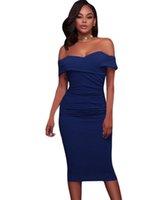 бюстгальтер открытый оптовых-Мода платье, европейский и американский станции моды платье, сексуальный бюстгальтер, плечи, короткие рукава, левая морщинка, самостоятельно ремонт платье.