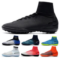 Wholesale cristiano ronaldo new soccer cleats resale online - New Boy Mercurial Unisex Superfly V TF Soccer Cleats Cristiano Ronaldo Men CR7 Kids Soccer Shoes Children football boots Woman Soccer Boots