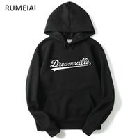 Wholesale dreamville hoodie - RUMEIAI 2018 New Hoodies Men Hip Hop DREAMVILLE J Cole Logo Hooded Swag Letter Fleece J Cole Hoodie Winter Hoodies Men Pullover