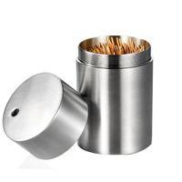 ingrosso nuovi barili di plastica-Contenitore per stuzzicadenti integrato in acciaio inossidabile Contenitore per stuzzicadenti integrato