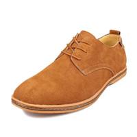 Wholesale mens black suede loafers - Men Shoes Casual Suede Leather Shoes Mens Loafers Black Oxford Shoes For Men Zapatos Hombre Big Size 38-48 Erkek Ayakkab