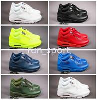 zapatos de moda usa al por mayor-Chaussures hommes 90 HYP PRM QS Zapatillas de running Sale Online Fashion Independence Day Zapatillas EE. UU. Flag Sport Sneakers 40-46