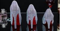 Wholesale imitation designer shoes - Sliver Rhinestone 3 4 5 inches heels bridal luxury designer high heels shoes wedding shoes zapatos de mujer boots sandals
