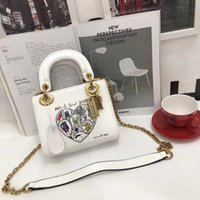 Wholesale italian chains - Fashion Luxury Designer Handbags High Quality Valentine Italian Genuine Leather Bag Rivet Chain Crossbody Bags For Women Shoulder Bags