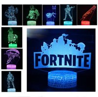 Wholesale xmas lights wholesale for sale online - 20 Style FORTNITE D Touch Lamp LED Night Light Raven Alpaca game Colorful Table Desk Lamps lights decoration Xmas Gifts for Kids Toys sale