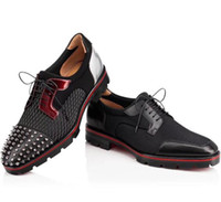 Discount spike rivet black - Black Rivets Toe Man Shoes Hubertus Orlato Flat Men Wedding Dress Shoes Genuine Leather Spikes Oxford Low Heels Flats Men Shoes