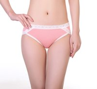 Wholesale cotton high waist ladies panties - Ladies Cotton Underwear High Waist Sexy Lace Edge European Oversized Size Briefs High Quality Panties S-2XL