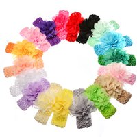 Wholesale infant toddler photo props for sale - Group buy 18styles Baby Girl Infant Flower Headband Princess Toddler Cute Flower Headband newborn Headwear Photo props Kids Christmas Gift FFA907