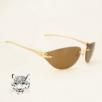Wholesale panther girls resale online - Oversize Sunglasses for Women Fahsion Panther Decoration Eyewear for Girl Vintage Traveling Equipment Eyeglasses for Various Occassion