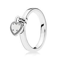 damen-verschluss ring großhandel-S925 Sterling Silber Mode Ring für Frauen Liebe Lock Ring Mädchen Finger Geburtstagsgeschenk Hochzeit Party fit Lady Schmuck