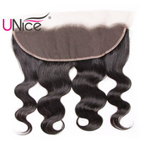 Wholesale lace frontal for sale - Group buy UNice Hair Brazilian Body Wave quot x4 quot Lace Frontal Ear to Ear Free Part Human Hair Lace Closure Natural Color Unprocessed Hair