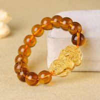 ingrosso braccialetti fortunati cinesi di fascino-Animali mitici cinesi antichi per fortuna, porta braccialetto di perline ricchezza
