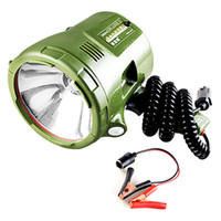 светодиодные прожекторы для автомобилей оптовых-JUJINGYANG морской прожектор, HID прожектор, 12V ксеноновая лампа, портативный прожектор для автомобиля, охота, кемпинг, лодка, размер: 75W