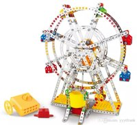 Ensamblaje 3D Kits de modelo de metal Toy Ferris Wheel con caja de música Building Puzzles 954pcs Accesorios Construction Play Set