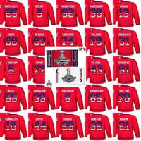 Wholesale usa flag nylon resale online - 2018 Stanley Cup Final Champion Patch Washington Capitals USA Flag Hockey Jerseys Wilson Nathan Walker Taylor Chorney T J Oshie Grubauer