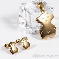 Wholesale TL Stainless Steel Bear Jewelry Set For Women Colours Brand Jewelry High Quality Never Fade