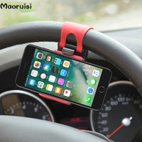 крепление подставки для клипсов оптовых-Универсальный автомобильный держатель телефона рулевое колесо велосипед клип крепление мобильного телефона стенд гнездо для Samsung iPhone Редми Xiaomi Примечание