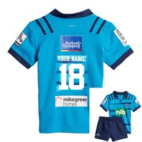 Wholesale wine transfer - 2018 Blues Super Rugby kids JERSEY New Zealand Super Rugby Union blues High-temperature heat transfer shirts size 18-20-22-24-26-28