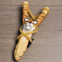 Wholesale wooden giraffe toys for sale - Cute Animal Wooden Hunting Slingshot Animal Giraffe Tiger Wolf Fox Dog Shape Sling Shot Toys For Outdoor Catapult jj BB