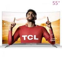 ücretsiz 55 inç tv toptan satış-TCL 55-inch high-end Kavisli yüzey 4 K ince akıllı ağ LED LCD ekran TV sıcak yeni ürünler ücretsiz kargo!