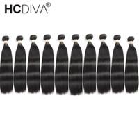 malezya kıvırcık saç ürünleri toptan satış-HCDIVA Saç Ürünleri Brezilyalı / Perulu / Malezya / Hint Saç Düz Vücut Dalga Derin Dalga Kıvırcık Loos Dalga Brezilyalı İnsan Saç Uzantıları