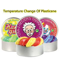 intelligente plastilin groihandel-Intelligente Kreative Hand Gum Temperatur ändern Turns Farbe Slime Silly Putty Licht Lehm Fimo Knetmasse Schlamm Dough Spielwaren-Kind-Geschenk