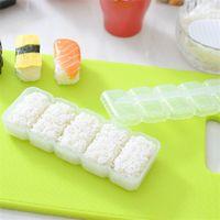 ingrosso strumenti bento-Il Giappone Nigiri Sushi modella la palla di riso 5 rotoli creatore non attacca lo strumento di Bento che spedicono liberamente
