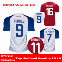 Wholesale Nursing T Shirts - 2018 World Up Jersey PANAMA GODOY OVALLE TORRES soccer jerseys Top thailand quality 18 19 HOME AWAY NURSE RED WHITE football t shirt