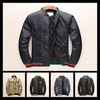 Wholesale Down Feather Jacket - 2017 Winter Luxury Fashion Brand Windbreaker Jacket Medusa Snake Floral Print Jackets Men Casual Long Sleeve Outerwear Jackets Coats