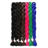 kanekalon haare 33 großhandel-Einfarbig Xpression Braiding Hair Bulk Crochet Braids 82 Zoll 165 gr / paket Kanekalon Braiding Hair Jumbo Synthetic Braiding Haarverlängerungen