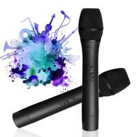 micrófono inalámbrico para sistema de conferencia. al por mayor-2 unids Profesional Micrófono Inalámbrico con Receptor Micrófono de Karaoke para el Hogar Sistema de Transmisor de Micrófono de Doble Canal para Conferencia
