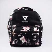 ingrosso borse di kpop-womans borsa mini tasche exo estilo coreano zaini femminili bts kpop bolsa got7 backbag borsa nera scuola zaino per ragazze