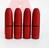 Wholesale frost container for sale - Bullet Empty mm Lip Balm Container Lip Balm Fashion Cool Lipstick Tube Frosted Red Color DIY Cosmetic