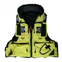 Wholesale boating vest - Adult Life Jacket Adjustable Safety Life Jacket Survival Vest Swimming Boating Fishing Ski Drifting Vest L-2XL Large Sizes