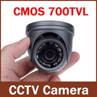 Wholesale dome camera cctv - 700TVL 1 4'' CMOS 12 LEDs Night Vision 3.6mm Lens Outdoor   Indoor Metal Waterproof Mini Dome Camera Security CCTV Camera