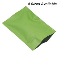 Wholesale wire nuts resale online - 100pcs Matte Green Foil Aluminum Zipper Lock Packaging Bags for Sample Giveaway Nuts Mylar Bags Mylar Foil Smell Proof Zipper Packing Pouch