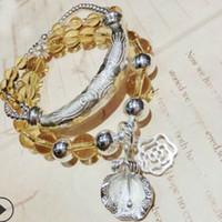 Wholesale silver jewelry topaz resale online - luxury jewelry S925 sterling sliver designer bracelets for women natural topaz DIY handmade bracelets hot fashion