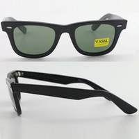 Wholesale Framing Angle - 1pcs Top Quality Designer Sunglasses brand Black Big Angle Frame Green UV400 Vintage Mens Sunglasses for Women with case and box