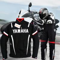 yamaha yol toptan satış-Yamaha erkekler için Motosiklet Ceket Pantolon Takım Motosiklet Koruma Pantolon Kış Sıcak Dişli Tutmak Motocross Ceketler Off Road ATV