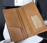 Wholesale korean pillow covers resale online - Hot long Korean fashion wallet top men s M leather printed wallet