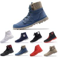 botas de tornozelo branco homens venda por atacado-Barato original Marca Palladium Botas Mulheres Homens Designer de Esportes Vermelho Branco Preto Camo Tênis de Inverno Sapatos Casuais Botas de Luxo ACE Tornozelo