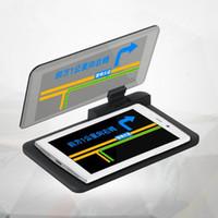 iphone ekran inç toptan satış-Araba Ön Cam Projektör HUD HEAD Up Display 6 Inç Cep Telefonu Tutucu iPhone Samsung GPS Araba-styling için Oto Sürüş Güvenliği