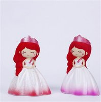 Wholesale girl models online - Cute Princess Squishy Slow Rising Toys PU Foaming Squishies Wedding Veil Girl Simulation Model Creative Decompression Squeeze Toys jy Y
