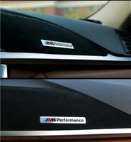 Wholesale Grill M3 - M Performance Motorsport Metal Logo Car Sticker Aluminum Emblem Grill Badge for BMW E34 E36 E39 E53 E60 E90 F10 F30 M3 M5 M6