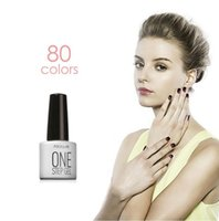 Wholesale One Step Gel Nail Polish - FOCALLURE 80 Colors One Step Gel 7ML Nude ColorGel Nail Art Nail Polish Gel UV LED Nail Gel