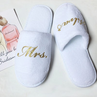 d7733c39f49bf3 bridal slippers Australia - personalized Bridesmaid slippers maid of honor  gifts wedding bridal shower party gift