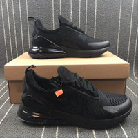 Wholesale concepts sport - 270 Hot Selling Pure Black Breathable Cushion Sports Sneakers 2018 New Brand Fashion Concept Jogging Running Shoes With Box