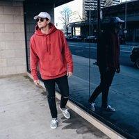 mais suéter venda por atacado-Kith Logotipo Clássico Com Capuz Caixa Clássica Logotipo Mais Camisola Com Capuz Retro Home Simples Algodão Homens E Mulheres Casal Camisola HFSSWY157