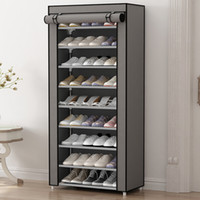 Wholesale Shoe Cabinet Rack - HHAiNi Multi Function Simple Dustproof Shoe Rack, Non Woven Shoes Cabinet Storage Organzier with Zipper Doors